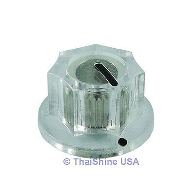 3 x MXR Style Fluted Clear Knob - USA Seller - Free Shipping