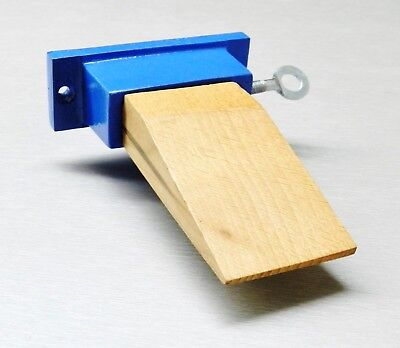 Wood Bench Pin Attachment With Metal Holder Jewelry Making Craft Hobby Tool
