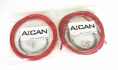 6pc Red Aican bike bicycle Housing Shield tube protector cover for brake//shift