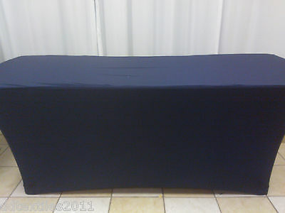 8ft navy spandex buffet table covers,wedding,event, DJ,craft/tradeshows,party