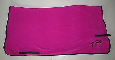 Horse Exercise or Quarter sheet FREE EMBROIDERY Choose your size Hot PINK