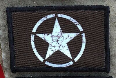 WWII P51 Mustang Fighter Plane Nose Art Morale Patch Tactical Military USA Hook