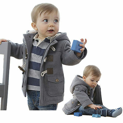 Boys Baby Jacket Winter Clothes Kids Outerwear Coat Thick Clothing with Hooded