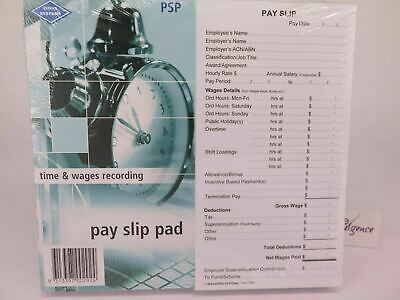1 x Zions Pay Slip Pad (Fair Work Compliant) 165 x 90mm 50 Slip/Pad PSP