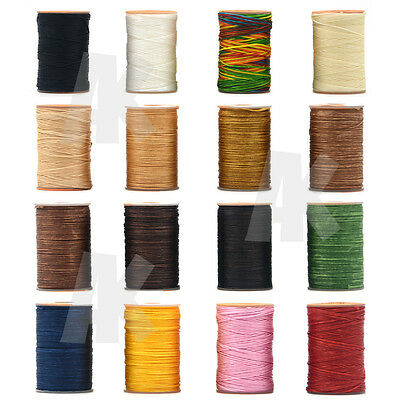 Waxed Thread Sewing Stitching Polyester Cord 0.8mm 60m Leather Craft Bracelet