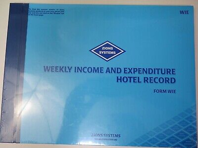 Zions Weekly Income & Expenditure Hotel Record Book 250 x 335mm - WIE^