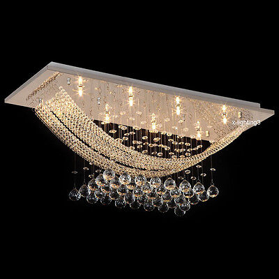 Modern Luxury Crystal Ceiling Lamp Chandelier Lighting Fixture Living Room