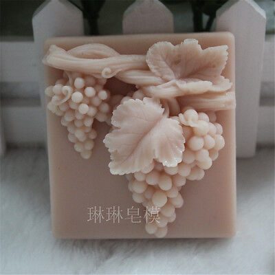 Grape S433 Silicone Soap mold Craft Molds DIY Handmade soap mould