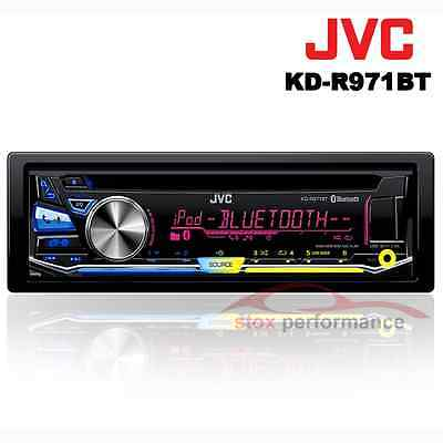 New JVC KD-R971BT Single Din CD / Bluetooth / Front USB /Aux-in Front car player