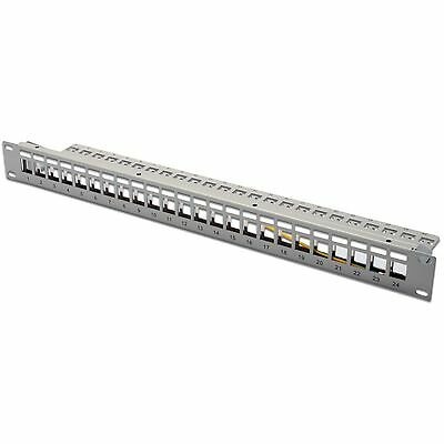 "Patch Panel 24 Porte 19"" Rack Frutti Keystone Jack Rj45 E Fibra Digitus Dn-91410"