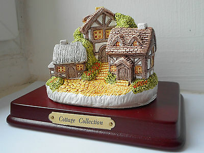 vintage hand made and painted collectable country cottage collection ornament