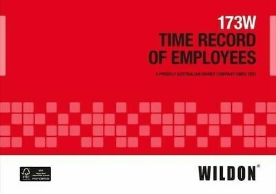 Wildon Time Record of Employees Book 173W WIL173