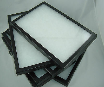 eight jewelry display cases riker display box shadow collection 8 X 12 X 7/8 new