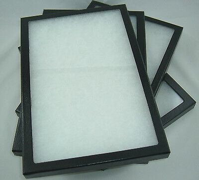 4 Jewelry display case Riker Mount display box shadow collection polyfoam 8 X 12