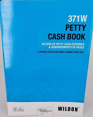 Wildon PETTY CASH BOOK GST Compliant 371W WIL371