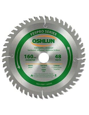 Oshlun SBFT-160048 160mm 48T Blade with 20mm Arbor for Festool TS 55 EQ & DWS520