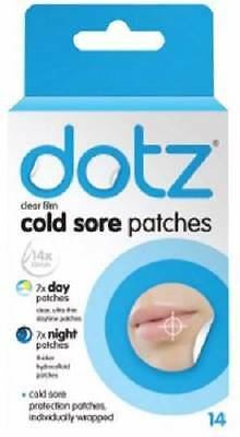 ** 14 Dotz Hydrocolloid Cold Sore Patches 7  X Day & 7 X Night Patches New **