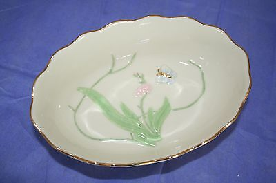 """Lenox China """"The Butterfly Candy Dish"""" w/Box & Certificate - 24k Gold Accents"""