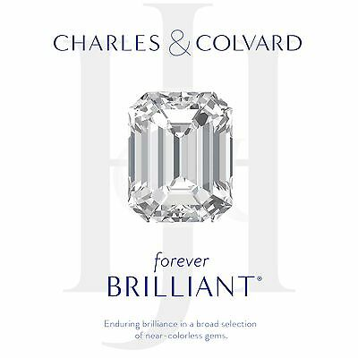 1.50 dwt Emerald Cut Moissanite Forever Brilliant Loose Charles Colvard 8x6 mm