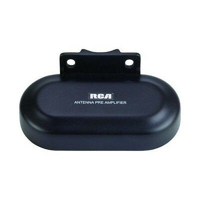 RCA TVPRAMP1E Digital Preamplifier for Outdoor Antenna FM VHF UHF 16dB/22dB Gain