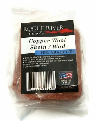 Copper Wool 3.5 Oz Skein 1/0 Fine Grade (Great for Gun Cleaning) - Made In USA!