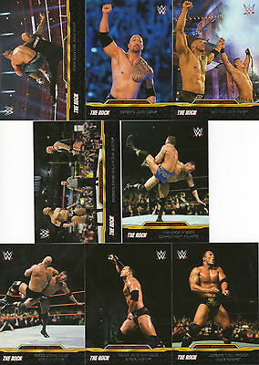 "Topps Wwe Road To Wrestlemania 2015 ""the Rock"" Chase Set - All 8 Cards"