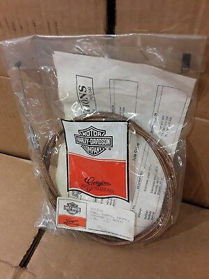 "Harley Throttle Cable 48"" Bronze Braided 76-80 Ironhead Sportster Shovelhead AMF"