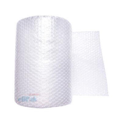 2 Rolls 375mm x 50M Meters Bubble Cushioning Wrap Roll - CLEAR 10mm Bubble