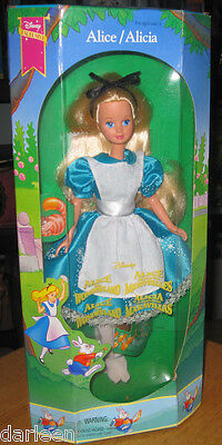 "Disney Exclusive ALICE In Wonderland 10"" doll Mattel 1994 Classic barbie type"