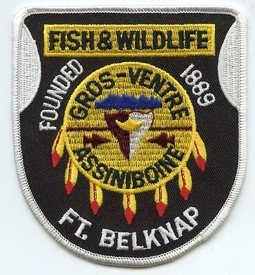 FORT BELKNAP MONTANA MT Fish and Wildlife DNR TRIBAL POLICE PATCH