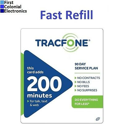 TracFone $39.99 Refill -- 200 Minutes / 90 Days, Applied To Phone Directly