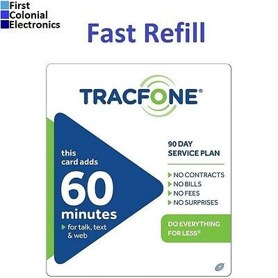 TracFone $19.99 Refill -- 60 Minutes / 90 Days. Over 1500 sold! Fast & Right