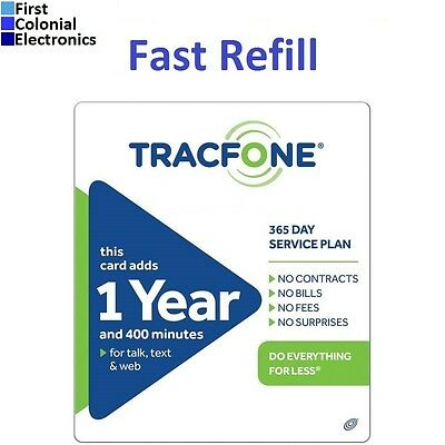 TracFone $99.99 Refill -- 400 Minutes/365 Days, Applied To Phone Directly