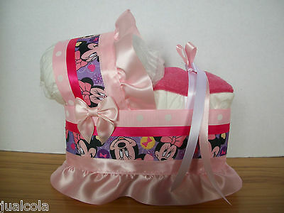 Minnie Mouse Girl Diaper Bassinet Baby Shower Centerpiece Table Decoration