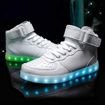 High Top Unisex Sportswear Shoes Led Light Lace Up sneaker Luminous Casual Shoes