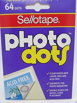 Sellotape Clear Photo Dots Acid Free 64/Dots 990005