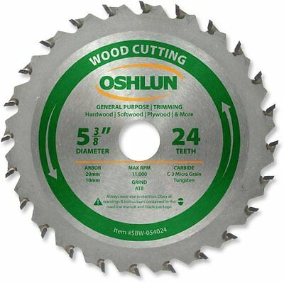 5 3/8 Tooth Atb General Purpose Trimming Saw Blade With 20mm Arbor