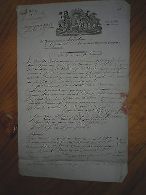1795  Lettre Revolution Armee Rhin Moselle A Entete