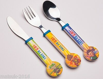 Tree Fu Tom Childrens 3 Piece Cutlery Gift set Suitable age 3 - 4