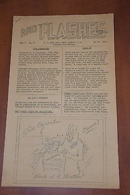*1944 RMO Flashes Base Paper, U.S Navy Yard Pearl Harbor Oct.10 (Extremely RARE)