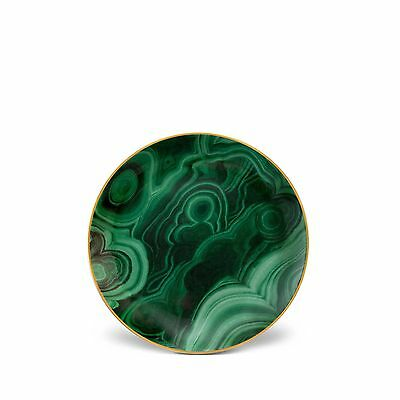 L'Objet Malachite Canape Plate - Set of 4
