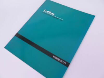 """A4 Indexed Notebook """"Where Is It"""" #938 Soft Cover 120P - Collins 04624"""