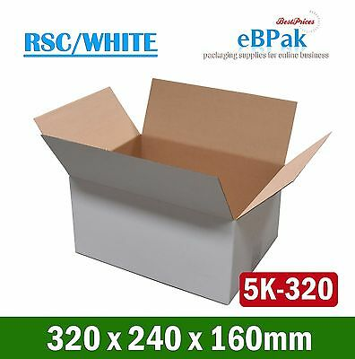 100x Mailing Box 320x240x160mm A4 Size Cardboard Light Carton * RSC White