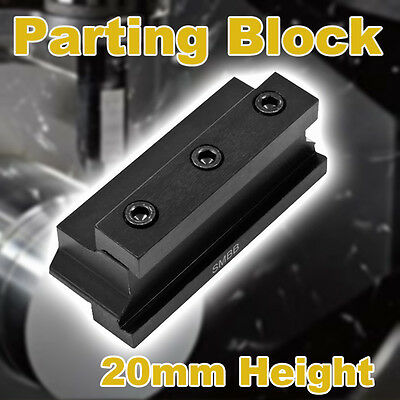 Carbide Tip CNC Parting Lathe Tool Holder Block 20mm Center Height 4 26mm Blade