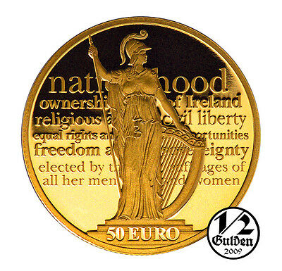 IRELAND 50 Euro 2016 Proclamation of the Irish Republic Gold Proof Coin Box