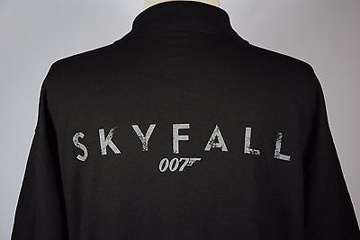 James Bond 007 SKYFALL Movie Promo Cinemark Employee Polo Black Shirt S M L XL