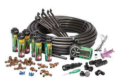 In-Ground Automatic Lawn Rotary Sprinklers Tubing Retracting Irrigation System