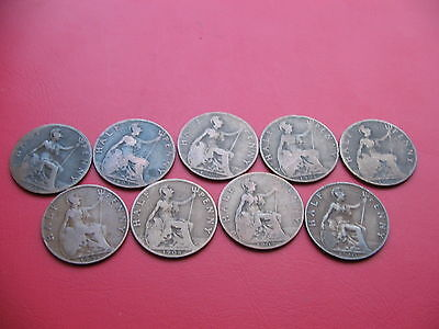 *rare* Complete Date Run Of King Edward Vii Half Pennies 1902-1910 Lot 6