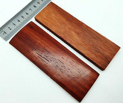 Pair of Pomegranate Wood Scales Knife Handle Making Blanks Bush Crafts 14x4 cm