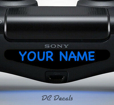 2X Playstation PS4 Controller Light Bar Sticker Custom Personalised Decal Vinyl